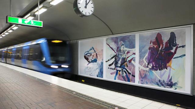 Konstväxlingar. Färgbilder Zinkensdamms T-bana 2013-14