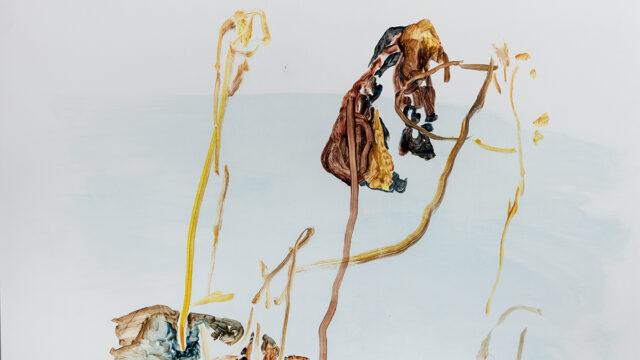 Skogen olja tempera på panna 100x75 cm